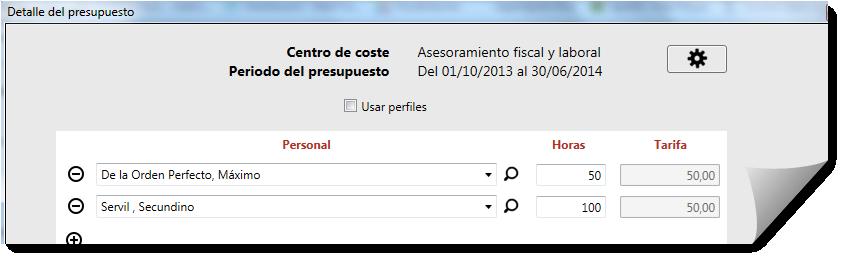 detalle de presupuesto